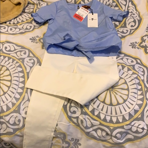7 For All Mankind Other - 2pc top and pants set